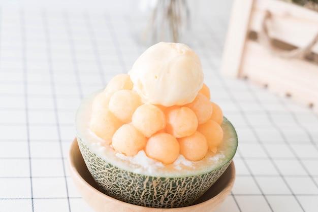 Ijsmeloen bingsu, bekend koreaans ijs