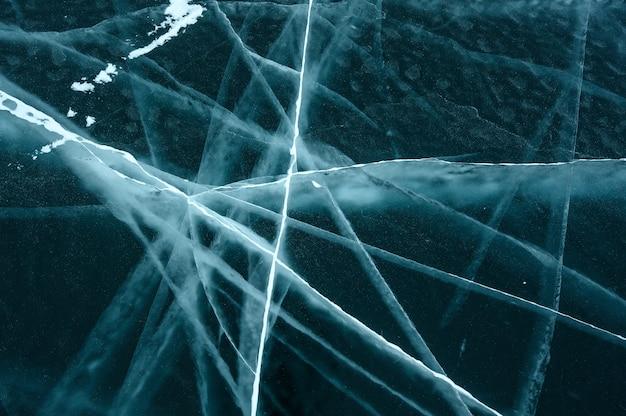 Ijstextuur van bevroren meer