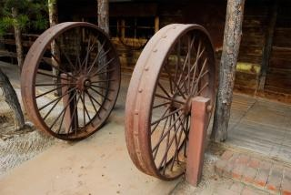 Ijzer wagon wheel nederlandse grens