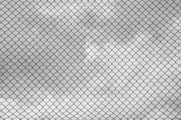 Ijzeren draad hek - zwart-wit