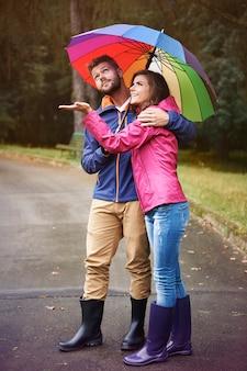Ik denk dat we geen paraplu nodig hebben