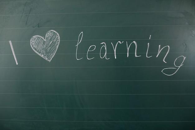 Ik hou van het leren van woorden