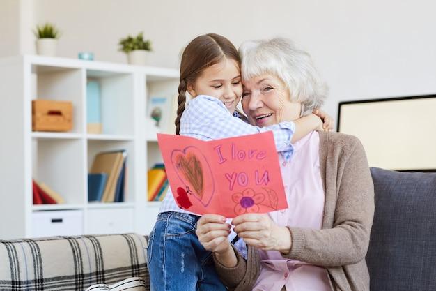 Ik hou van je kaart voor oma