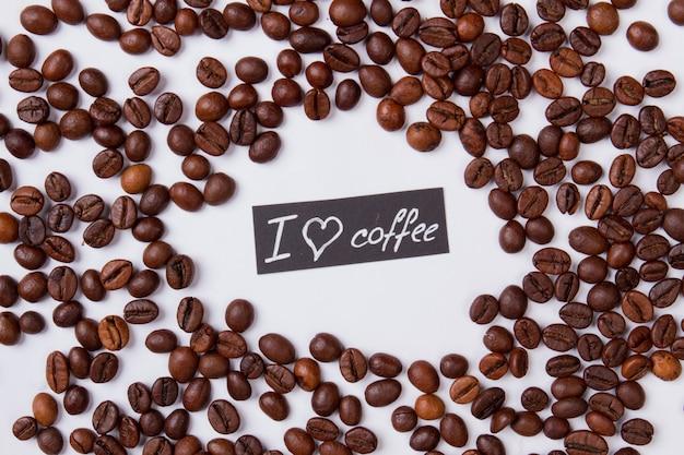 Ik hou van koffie plat leggen