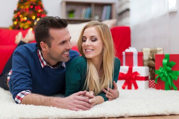 Ik hou zoveel van jou. het is de beste kerst in mijn leven