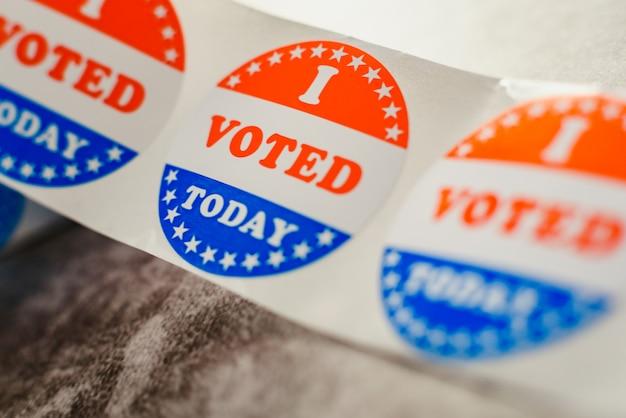 Ik stem vandaag bij de amerikaanse verkiezingen.
