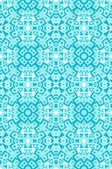 Ikat-achtergrond. blauwe naadloze patroon. aquarel etnische ornament.