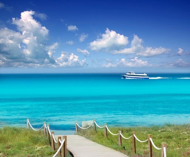Illetas illetes beachn turkoois formentera-eiland