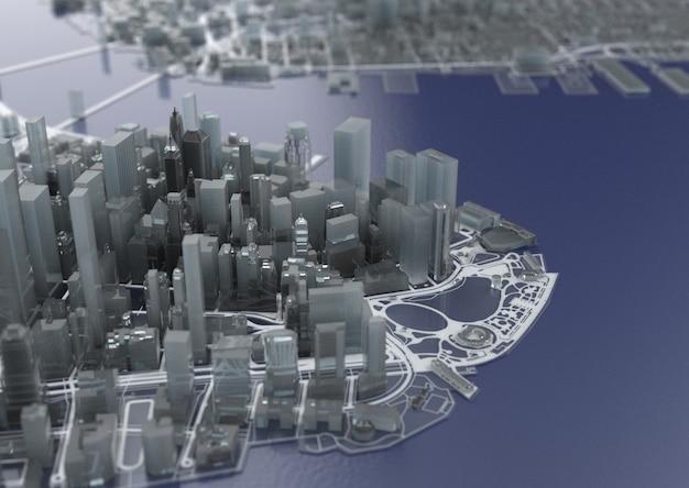 Illustratie in casual grafisch ontwerp. fragmenten van new york