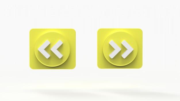 Illustratie set van muziek button s concept sociale media 3d weergegeven