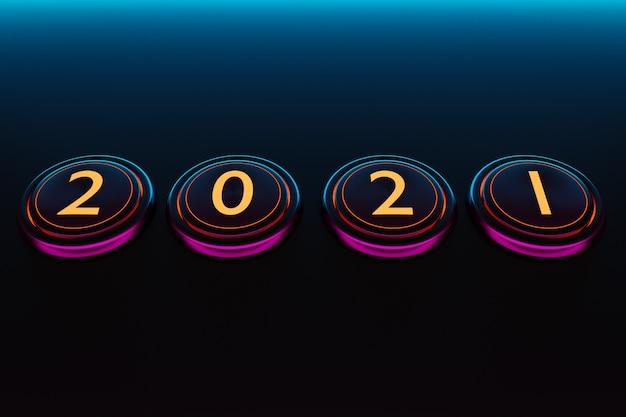 Illustratie start teken of symbool, ronde roze en blauwe vorm. illustratie van het symbool van het nieuwe jaar.