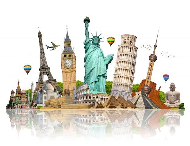 Illustratie van beroemd monument van de wereld