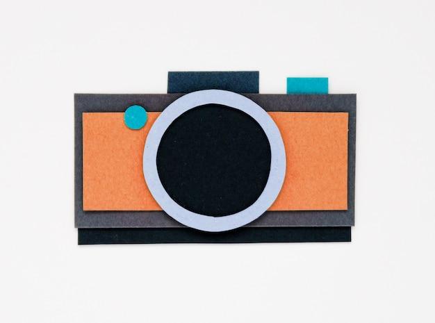 Illustratie van camerafotografie verzamelt herinneringen