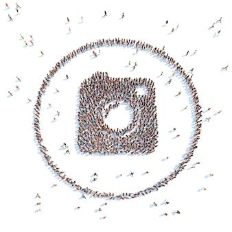 Illustratie van een brief met mensen