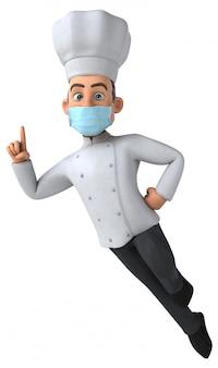 Illustratie van een man met een masker