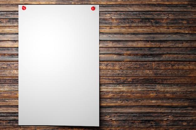 Illustratie van een wit vel papier voor schrijfopdrachten herinneringen aan een boodschappenlijst
