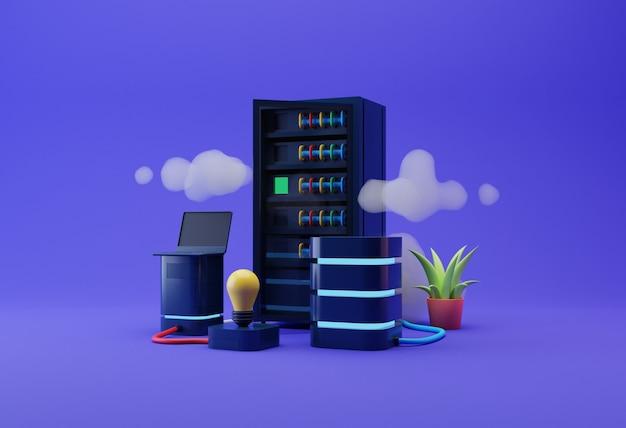 Illustratie van gegevensservers