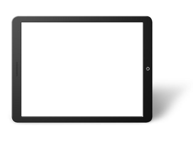 Illustratie van moderne computertablet met het lege scherm. geïsoleerd op witte achtergrond