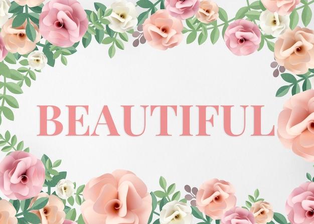 Illustratie van prachtige schoonheidsbloem