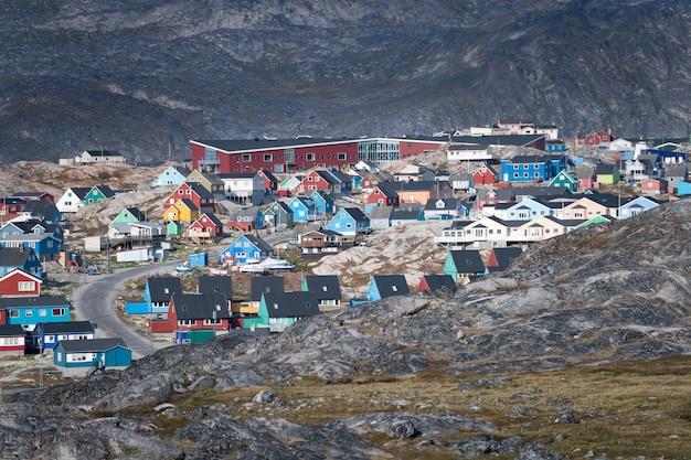 Ilulissat-stad in groenland