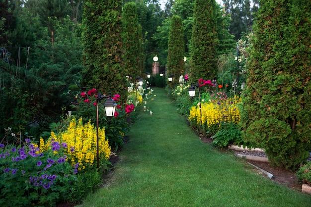 In de botanische tuin