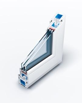 Incisie pvc-profielramen met driedubbele beglazing Premium Foto