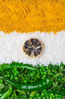 India independence day 15 augustus concept: indiase nationale vlag