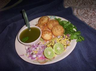 Indian chats, panipuri