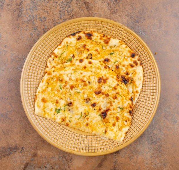 Indian healthy cuisine knoflookbrood of knoflook naan