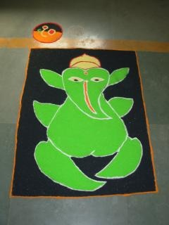 Indian rangoli diwali