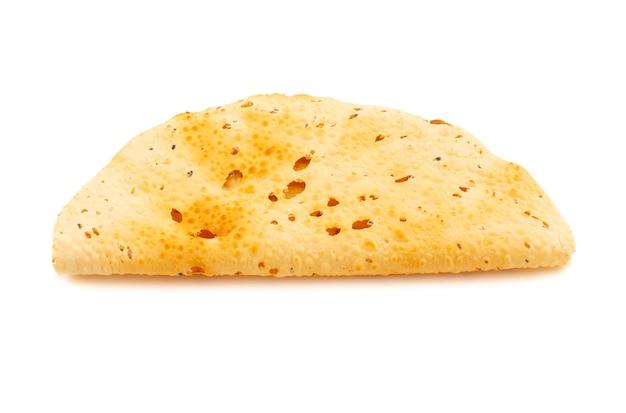 Indian snack dish geroosterde papad ook bekend als papadum of crackers