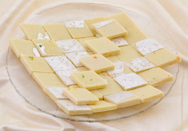 Indian special sweet food kaju katli