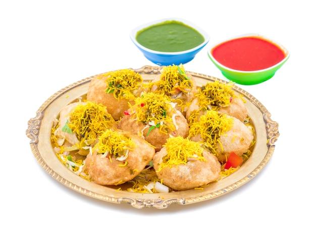 Indian spicy chaat artikel sev puri