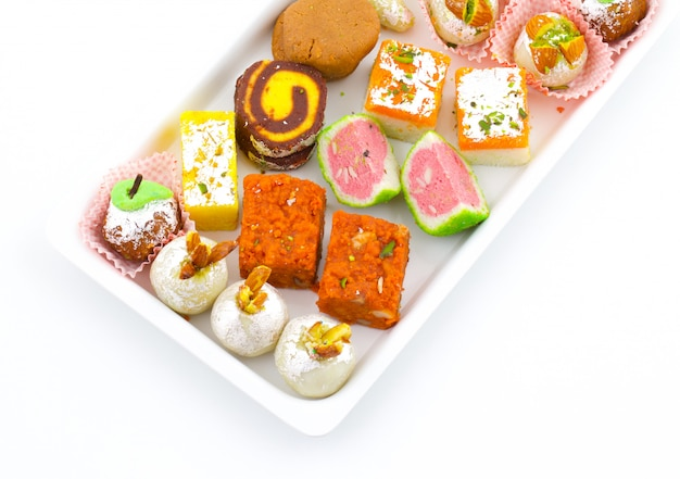 Indian traditional mix sweet food