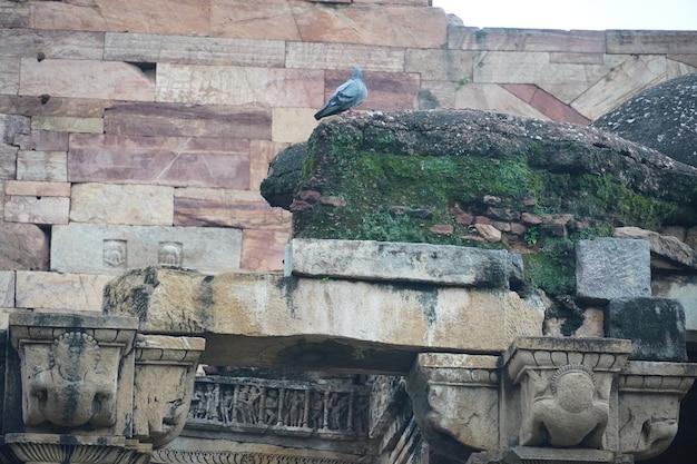 Indiase historische oude kunststructuur afbeelding buiten