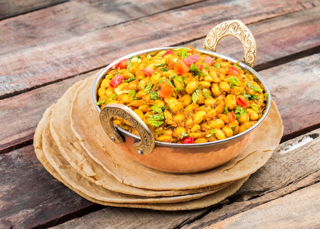 Indiase keuken rajma masala eten