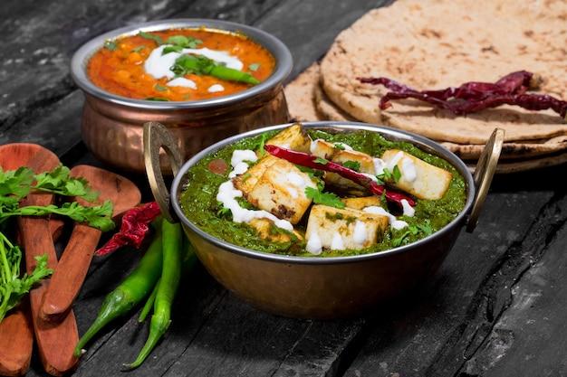 Indiase keuken uit punjabi palak paneer