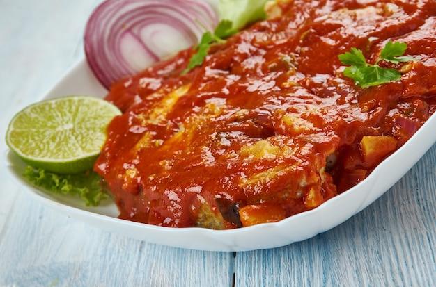 Indiase malabar vis curry - thalassery vis curry kerala