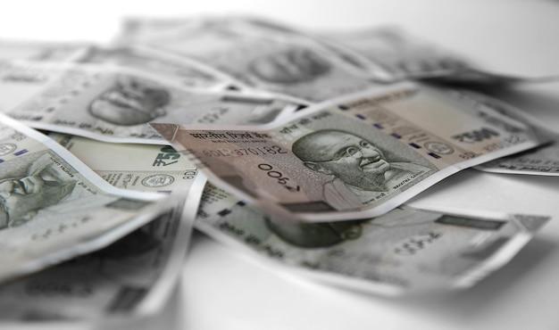 Indiase roepies vijfhonderd geld achtergrond