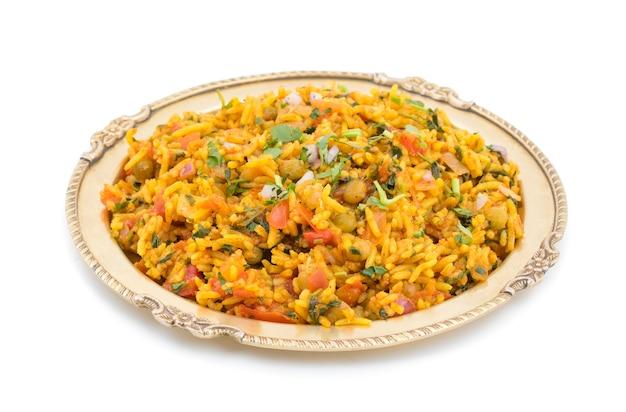 Indiase traditionele dessert veg biryani