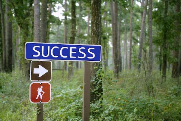 Indicatief teken in het bos