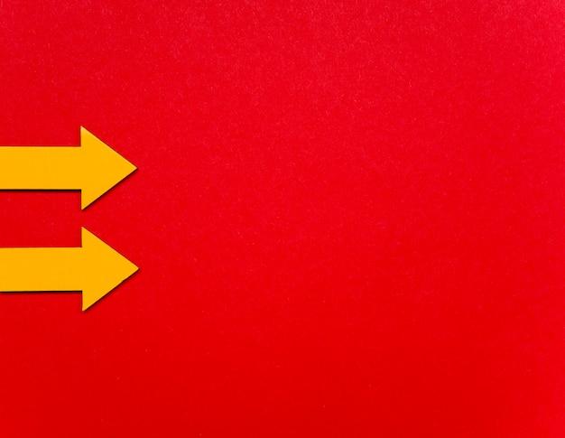 Indicator pijlen bovenaanzicht