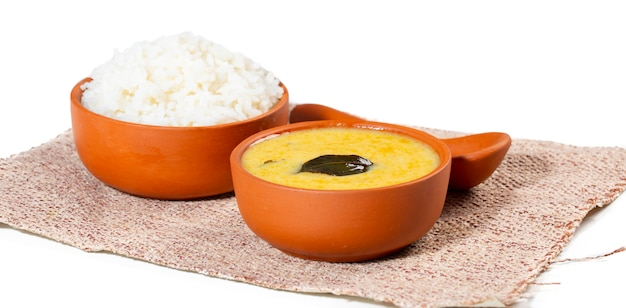 Indische traditionele keuken kadhi chawal