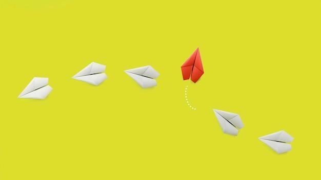 Individualiteitsconcept onder papieren vliegtuigen