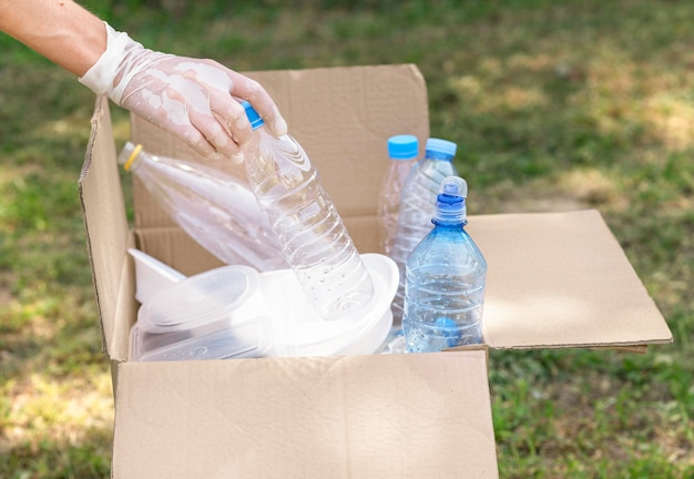 Individuele recycling plastic flessen