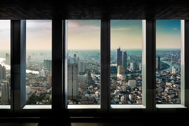 Indoor uitzicht op de stad punt