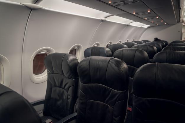 Indoor vliegtuigen rij vervoer stoel