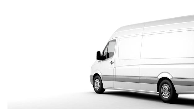 Industriële bestelwagen op een witte ondergrond