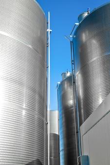 Industriële silo's.detail