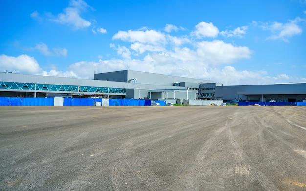 Industriepark, fabrieksgebouw, magazijn